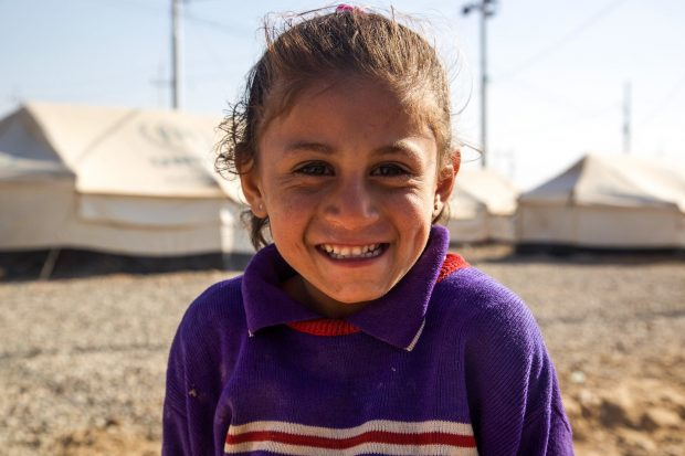 A young girl in Debaga camp, Iraq. Picture: OCHA/Sylvia Rognvik