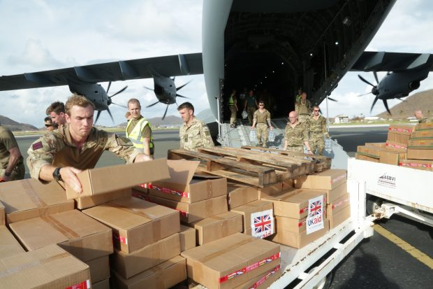 UKaid delivered 5 tonnes urgently needed food and water from cdemacu to British Virgin Islands