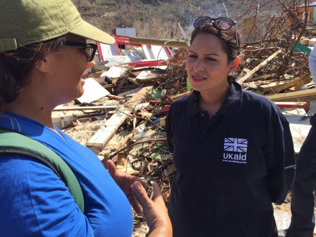 International Development Secretary Priti Patel seeing the hurricane response first hand