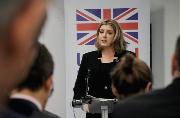 Penny Mordaunt at today's speech