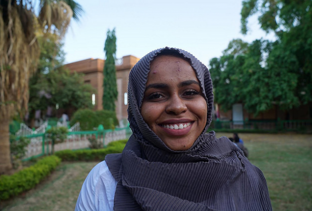Portrait of anti-FGM campaigner in Sudan