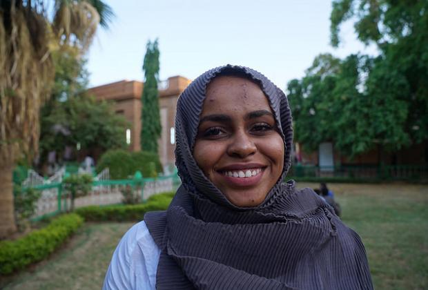 Portrait of anti-FGM campaigner in Sudan