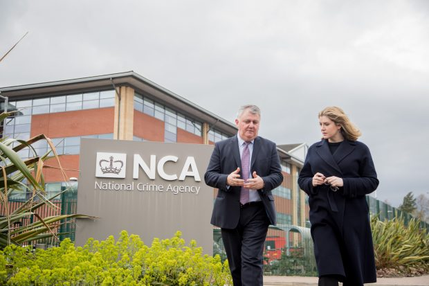 Penny Mordaunt visiting the National Crime Agency