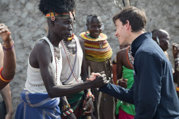 Rory Stewart meets communities in Kenya. Picture: Will Crowne/DFID