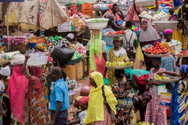 Picture of a busy African market. Credit: FSD Africa