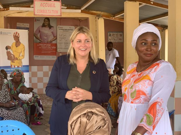 Baroness Sugg at a Marie Stopes outreach clinic in Senegal
